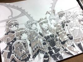 FFXIV Ink Commission by jojostory