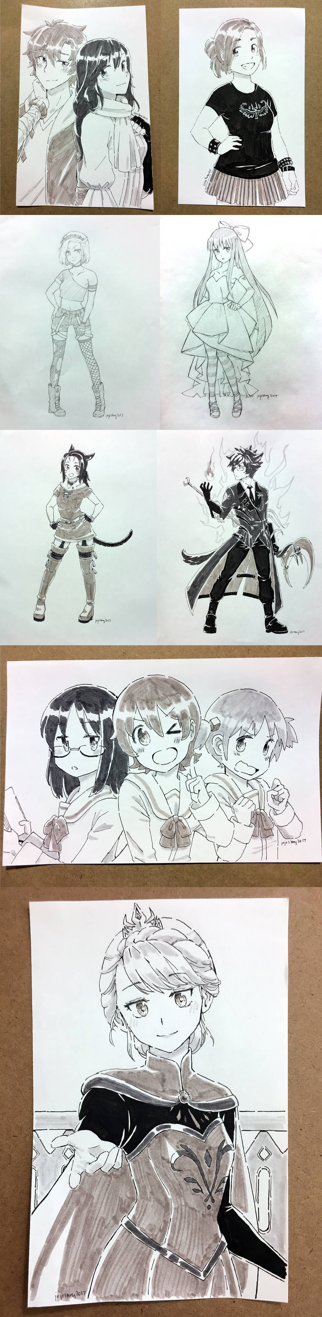 Anime Central 2017 Commissions by jojostory