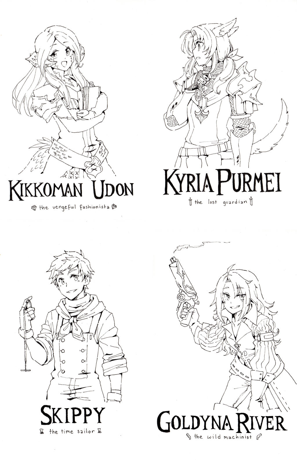 FFXIV Characters Part 2 by jojostory