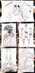 Anime Expo 2019 Sketches by jojostory