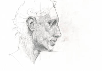 Head study sketch by Kordian678