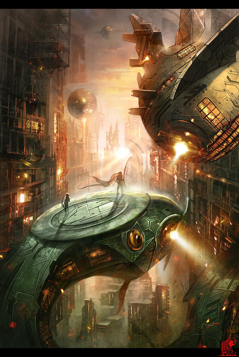 Sci-fi world by zhaoenzhe