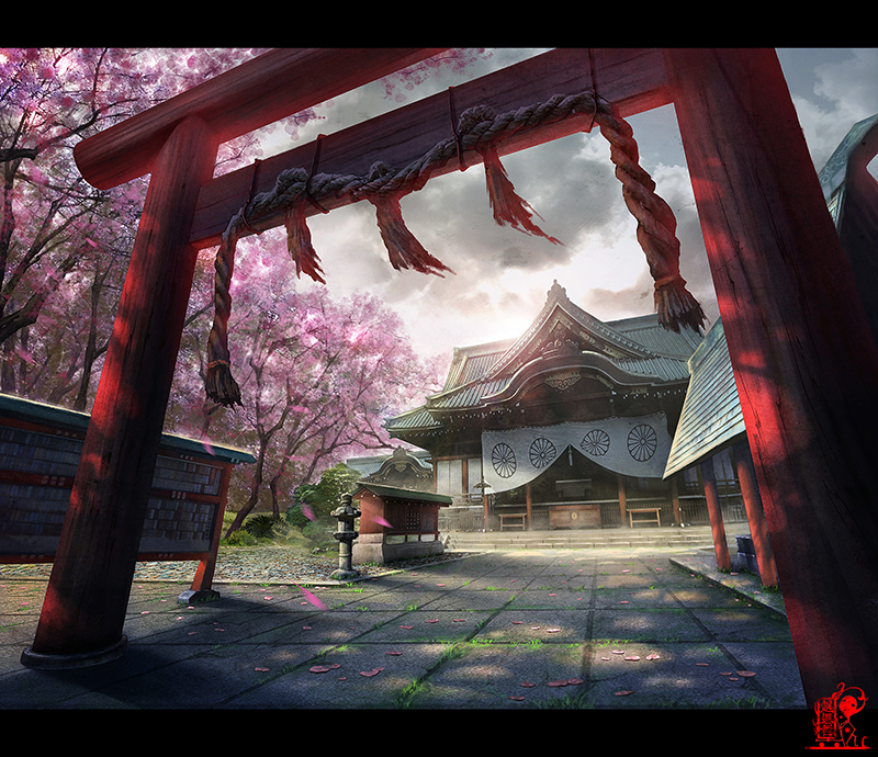 shrine by zhaoenzhe