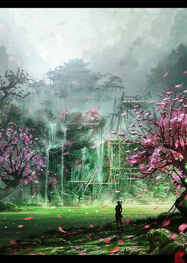 Flower island by zhaoenzhe