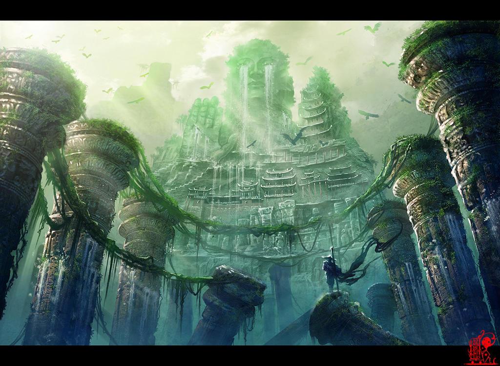 Giant Buddha canyon by zhaoenzhe