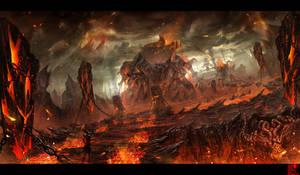 Flames earth