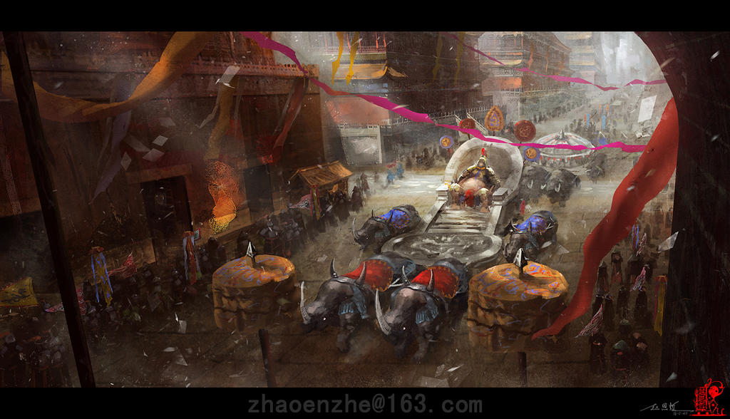 Qing army into the city by zhaoenzhe