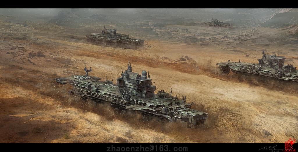 Desert Fleet by zhaoenzhe