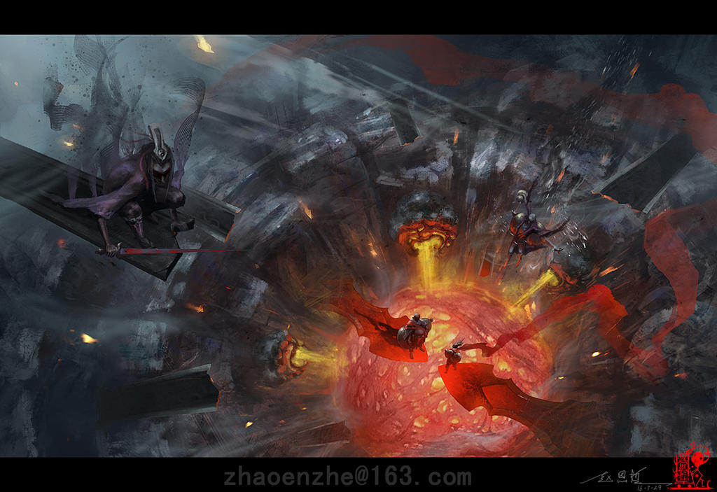 Fire Canyon by zhaoenzhe