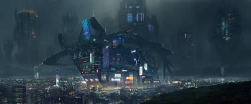 Night city by zhaoenzhe