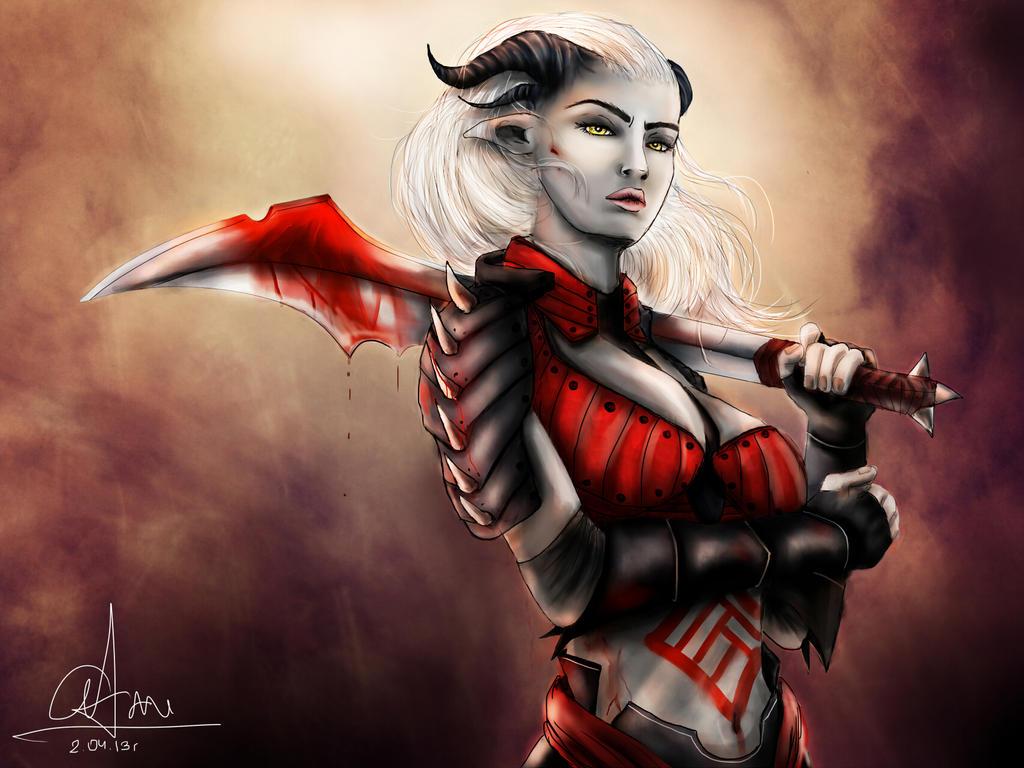 Dragon Age - Qunari woman by sasorizanoko on DeviantArt