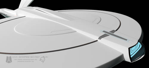 USS Enterprise F WIP 021 by LordSarvain