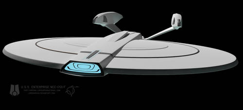 USS Enterprise F WIP 022 by LordSarvain