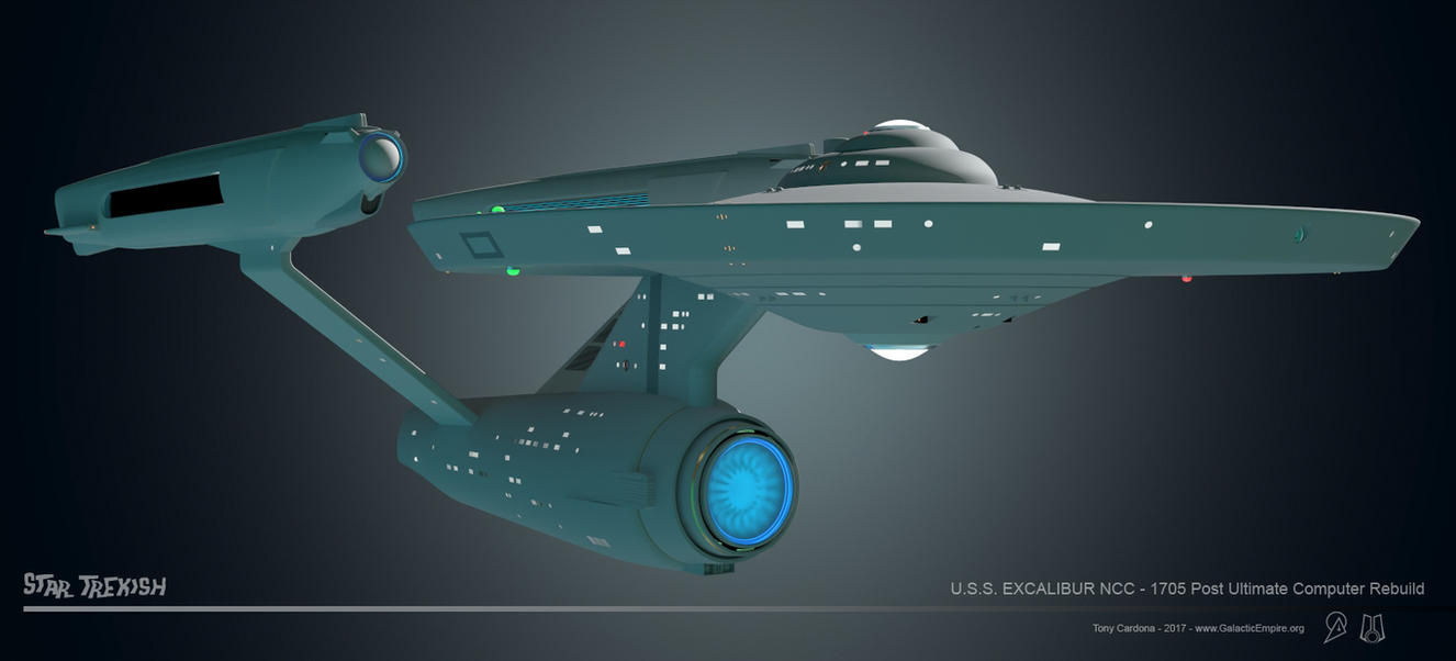 USS Excalibur NCC-1705 WIP 023 by LordSarvain