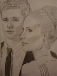 Brad Pitt and Angelina Jolie by britttie