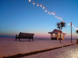 Snowy Winter Beach