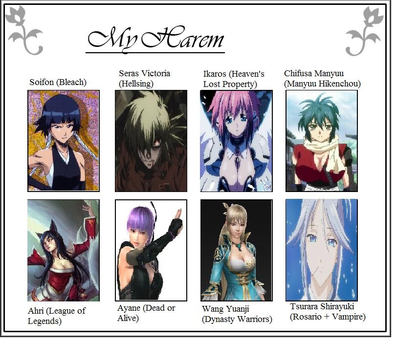My anime harem by Zandermon02 on DeviantArt
