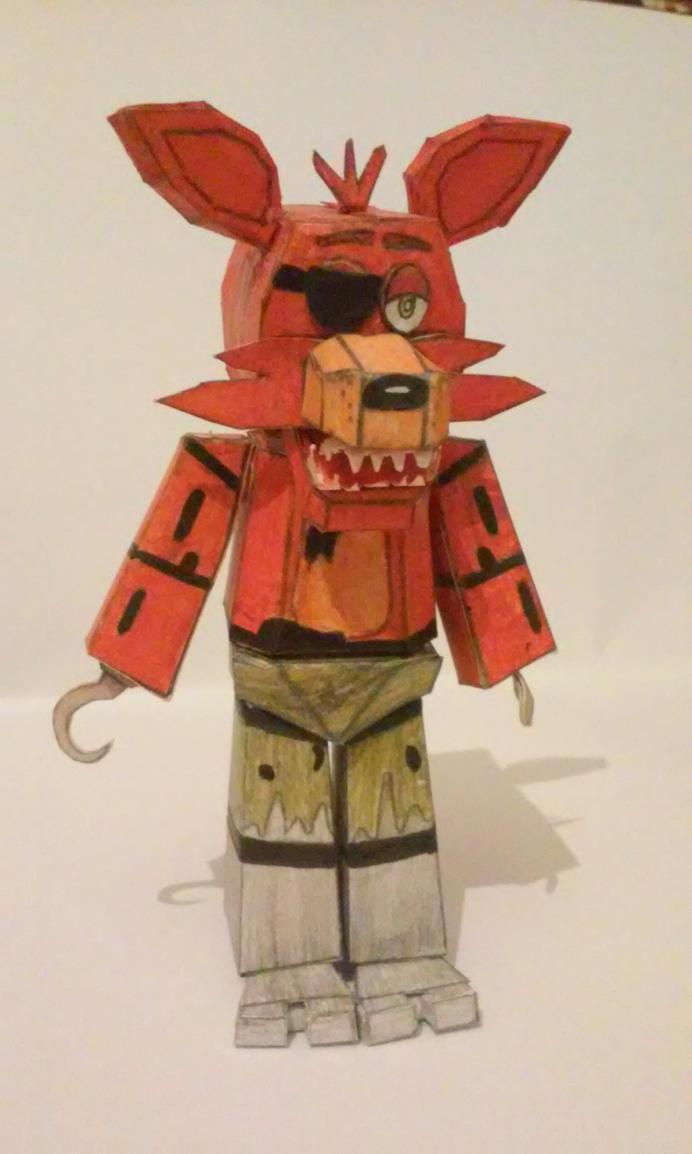 Fnaf Papercraft Foxy - 0425