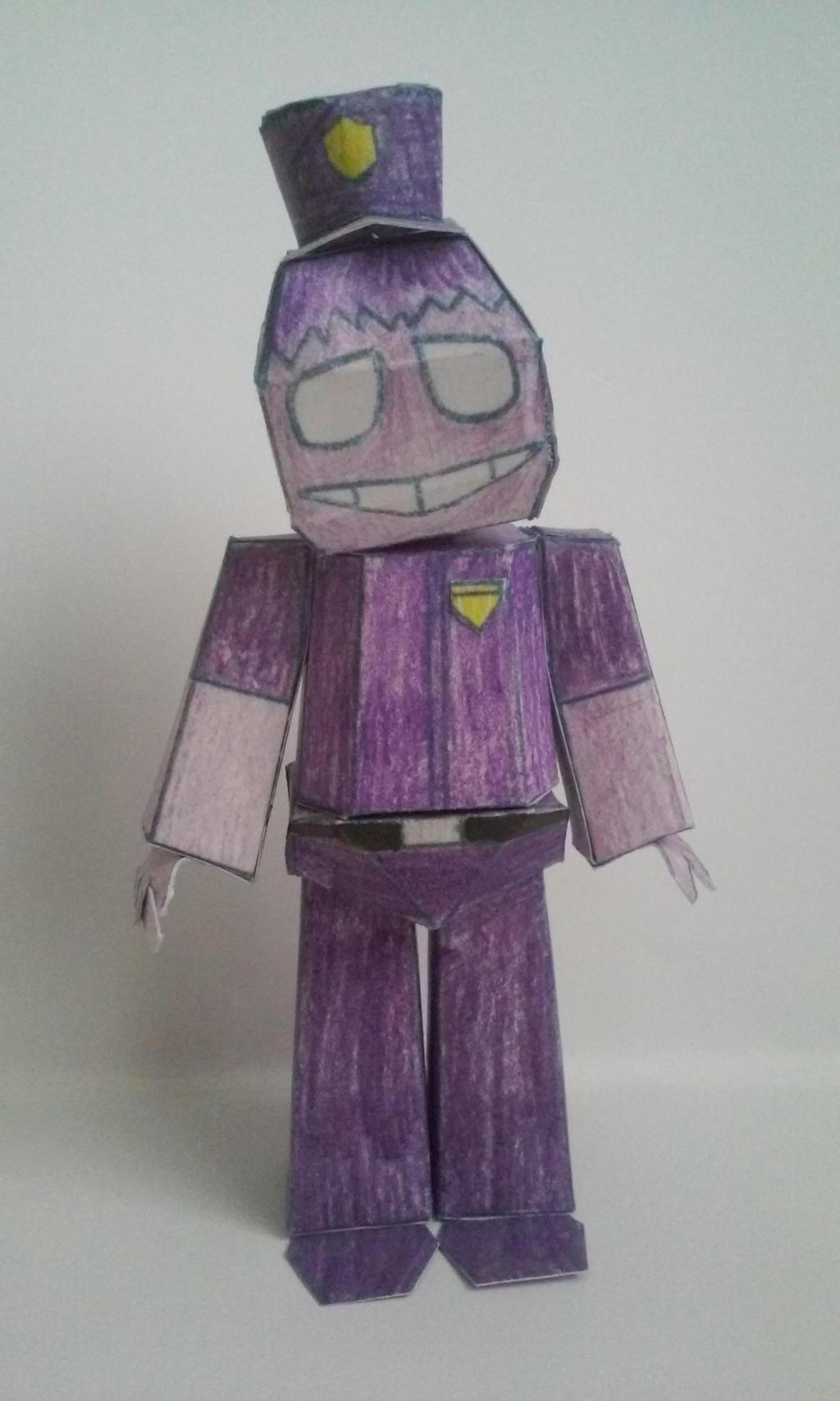 Fnaf papercraft purple guy im2 by paperlist on deviantart