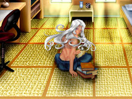 urd alone at home by evangelion-2100