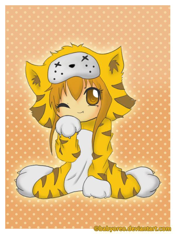 Cute Chibi Tiger Chibi Tiger by Babyoreo