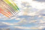 Tricolours Arrows in the sky by Mark-Photographer