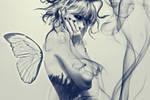 Butterfly girl by junest