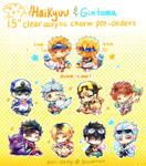 Pkmn X Haikyuu + Gintama acrylic charms