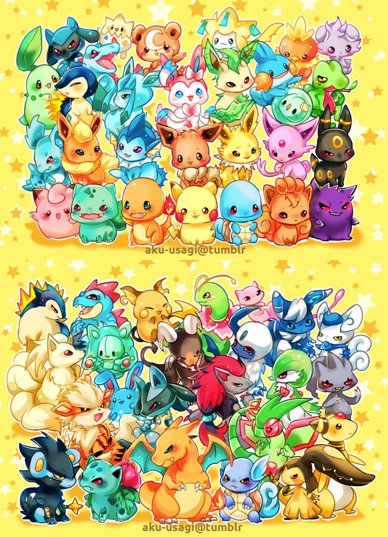 Chibi Pokemon By Evil usagi On DeviantArt