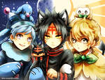 Pokemon Sun and Moon (starter gijinkas)