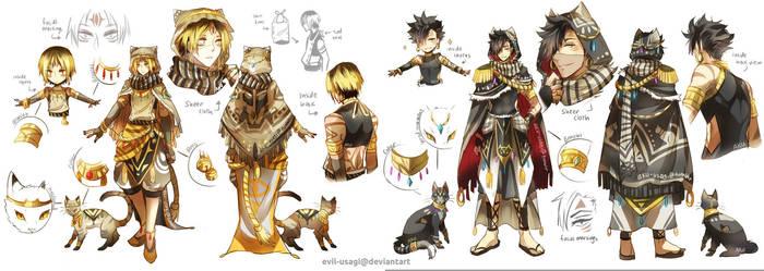 HQ - (Kuroo + Kenma) Arabian clothing