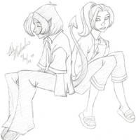 Kitty and Kurt, X-Men: Evoluti by MakoEyedLady