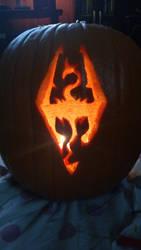 Skyrim Symbol Pumpkin by MakoEyedLady