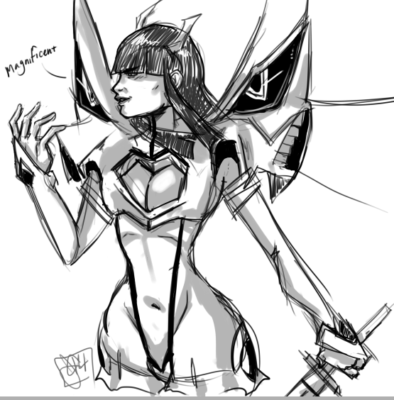 Rough Sketch Satsuki by sharemypassion