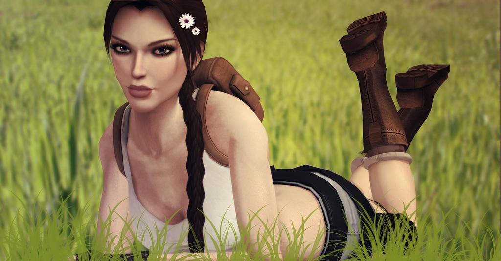 Lara_Croft_In_The_Grass (2) by ivedada
