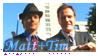 stamp: WHiTE COLLAR - Matt+Tim by SimbiAni