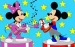 Minnie and Mickey rocks by Joko-Zuno