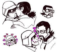 HLVRAI - sketch kisses