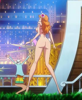 Nami's beautiful ass nude edit