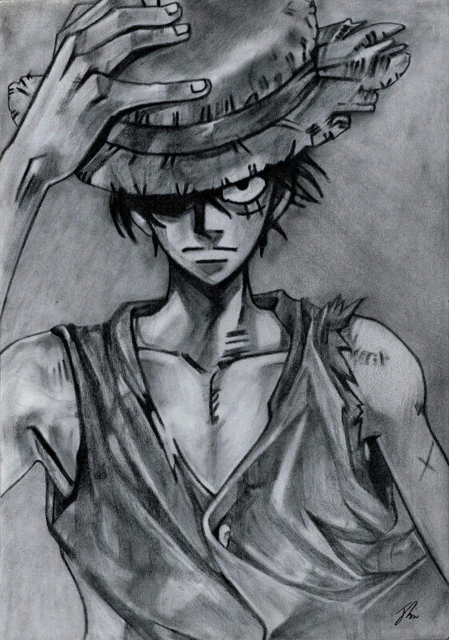 Luffy, One Piece by LittleDragonZ