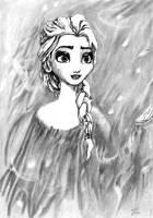 Elsa, Frozen by LittleDragonZ