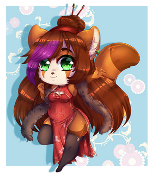 Red Dress for a Red Panda