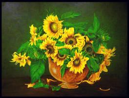 Sunflowers by silhoveete