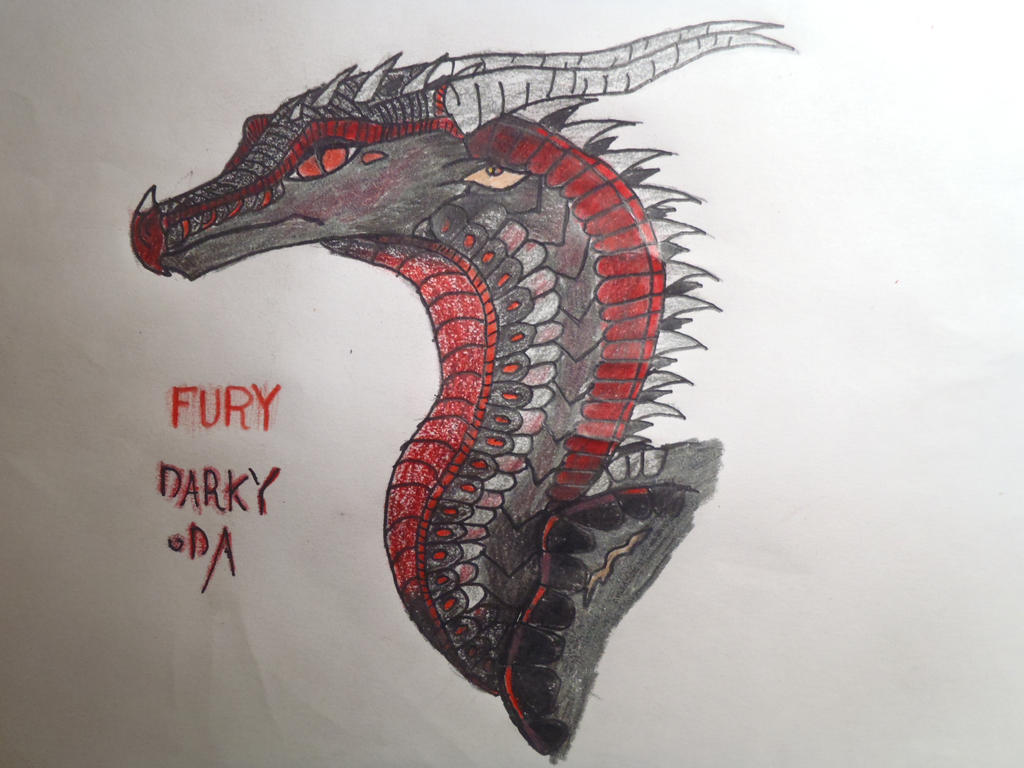 Wings of fire fury backstory description by darkydraws for Wings of fury