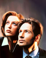 Mulder e Scully V1 by FantasminhaCamarada