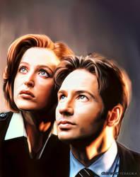 Mulder e Scully V1 by FantasminhaCamarada