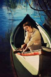 Emmy Curl Canoa Oil Painting by FantasminhaCamarada