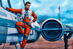 Poe Dameron_ oil painting