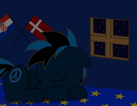 Sleep Well Blue Lambda