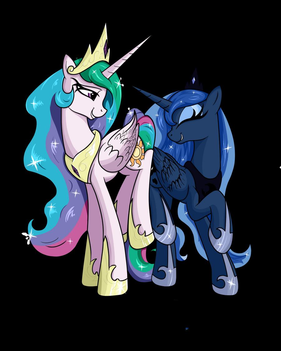 Celestia and Luna by VinaraMic on DeviantArt